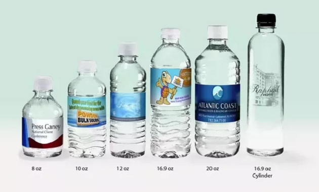 Typical bottle sizes